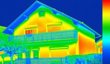Snímek pořízený termokamerou