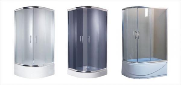 Sprchové kouty s rozdílnou výškou vaničky