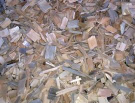 Dřevní štěpka - detail