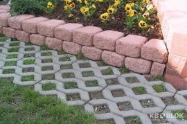 Vyvýšení betonovými tvarovkami a betonová zatravňovací dlažba