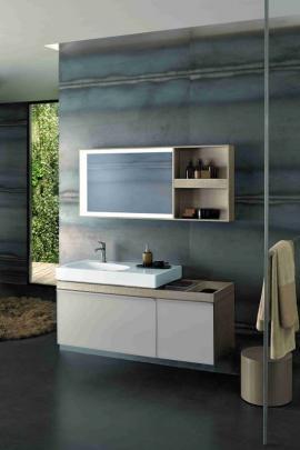 Neobvyklé organicky tvarované umyvadlo na desku upoutá pozornost v každé koupelně. Jako všechny modely nové designové řady Citterio je i tento vybaven tvarově pěknou keramickou krytkou odtoku.