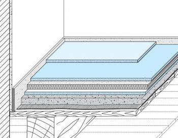 Schéma suché sádrokartonové podlahy KNAUF F 146