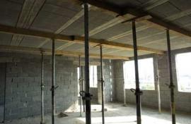 Betonová stropní konstrukce BSK - pohled zdola, betonové překlady