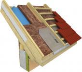 Skladba s krokvovými náměstky ze dřeva XPS
