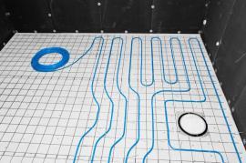 Pokládání elektrických topných kabelů