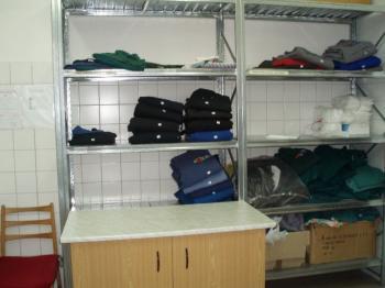 Uskladnění vypraného a vyžehleného prádla