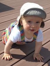 Woodplastic® terasa je ideální pro děti
