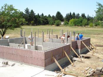 Výstavba ze stavebního systému VELOX