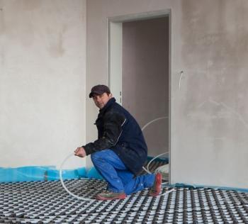 Pokládka podlahového vytápění