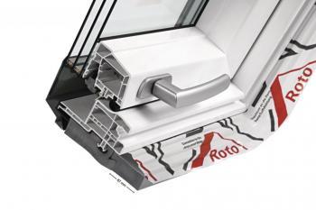 Příčný řez nízkoenergetickým oknem Designo R8 s trojitým zasklením