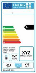 Energetický štítek pro TV