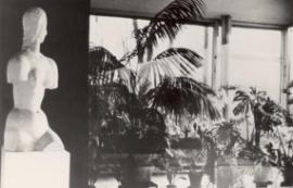 Dívčí torzo od Wilhelma Lehmbrucka v hlavním obytném prostoru, 30. léta, foto: Fritz Tugendhat