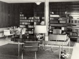 Pracovna v hlavním obytném prostoru, 30. léta, foto: Fritz Tugendhat