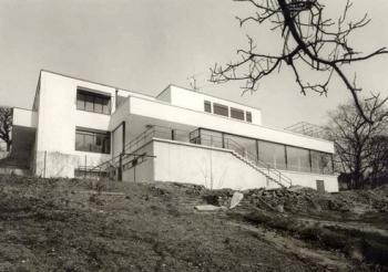 Zahradní průčelí vily, 1985, foto: Archiv města Brna