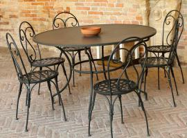 Ocelový zahradní nábytek