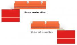 Uložení keramických stropních panelů CZ-JW