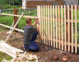 Dřevěné oplocení