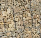 Detail gabionové konstrukce