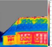 Infrasnímek vzduchové netěsnosti střešního pláště