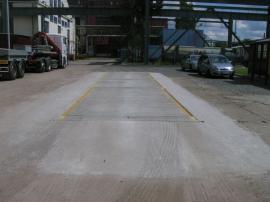 Kalibrace prefabrikované mostní váhy PROFI BP v provedení zapuštěném