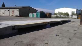 Kalibrace prefabrikované mostní váhy PROFI BP v provedení nájezdovém