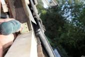 Montáž trámu pro uchycení rámu střešního okna