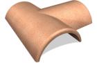 Hřebenáč SELSKÁ cihlová rozdělovací T