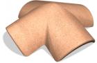 Hřebenáč SELSKÁ cihlová rozdělovací X