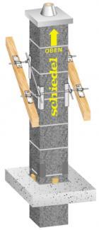 Nadstřešní část systému Schiedel PARAT