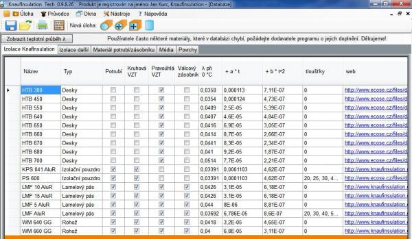 Databáze technických izolací Knauf Insulation