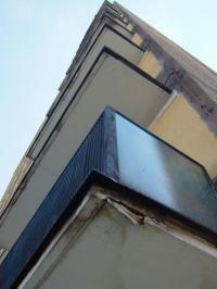 Poškozený balkón