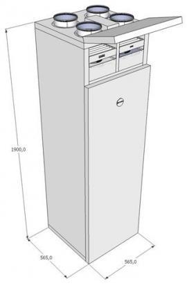 Helix Ventbox - rekuperační jednotka s integrovaným by-pass