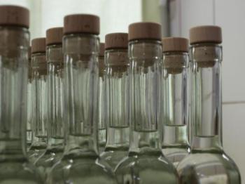 Pálenka v lahvích