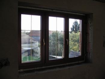 Nově osazené okno - pohled z interiéru