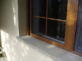 Detail nového okna a parapetu