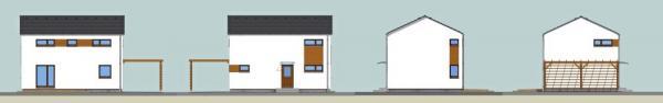 Typový rodinný dům na klíč KUBIS 631 - probarvené pohledy