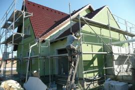 Dokončování exteriéru domu