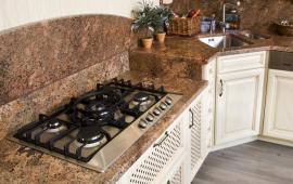 Kuchyňská kamenná deska a obklad