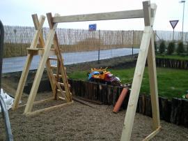 Jednoduchá dřevěná konstrukce pro nejmenší