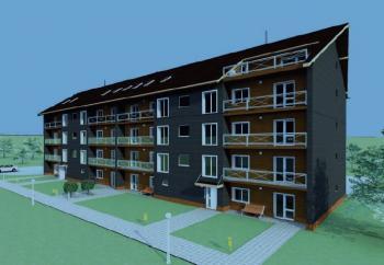 Nízkoenergetický bytový dům v Moldavě nad Bodvou - 3D vizualizace