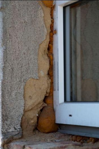 Nevhodně namontované okno