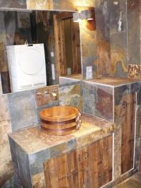 Kámen v koupelně