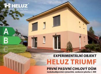 Pasivní dům postavený zjednovrstvého cihelného zdiva