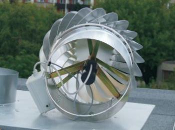 Pohled do ventilační turbíny