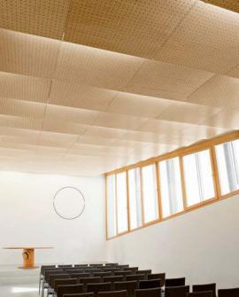 Modlitebna sboru Církve bratrské v Litomyšli - dokončený hlavní sál