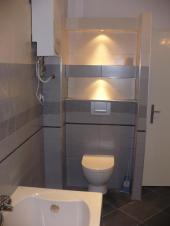 Nová koupelna - pohled na toaletní mísu