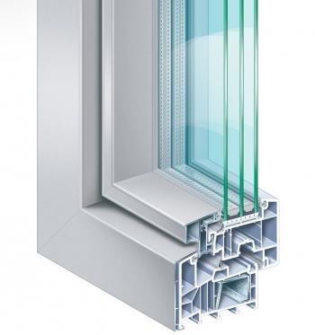 Plastový okenní profil 88+ AluFusion