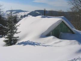 Nával sněhu na horách
