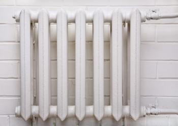 Staré litinové radiátory