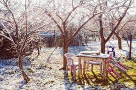 Plastový nábytek venku přes zimu nenecháváme